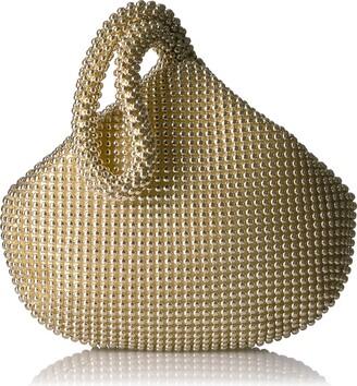 Jessica McClintock Women's Staci Mesh Wristlet Pouch Evening Handbag