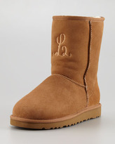 UGG Monogrammed Short Boot, Chestnut