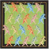 Gucci Tigers print silk scarf