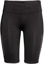 H&M Knee-length Running Tights - Black - Ladies