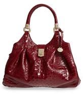 Brahmin Elisa Croc Embossed Leather Shoulder Bag - Red