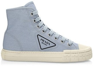 Prada Canvas High-Top Sneakers