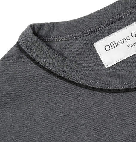 Officine Generale Piped Cotton-Jersey T-Shirt