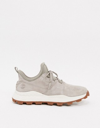 Timberland leather Brooklyn lace oxford sneakers in gray