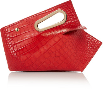Khaore Athaarah Croc-Embossed Leather Bag