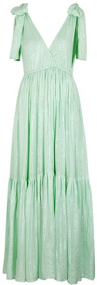 SUNDRESS Fanya Mint Sequin-embellished Maxi Dress