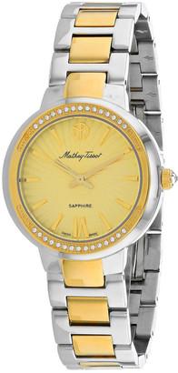 Mathey Tissot Mathey-Tissot Women's Lucrezia Crystal Watch