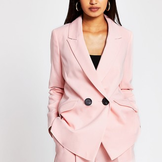 River Island Pink double breasted blazer