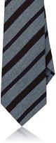 Isaia Men's Striped Wool-Silk Necktie-LIGHT BLUE
