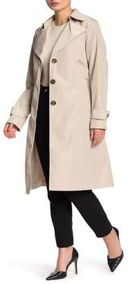 Via Spiga Packable Belted Rain Jacket (Petite)