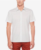 Perry Ellis Big & Tall Men's Linear-Print Cotton Shirt