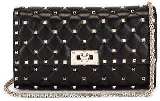 Valentino Rockstud Shoulder Bag in Nero | FWRD