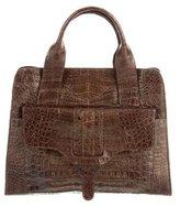 Nancy Gonzalez Metallic Small Crocodile Handle Bag