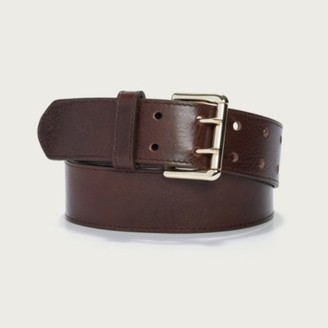 The White Company Leather Wide-Waist Belt, Chocolate, Medium