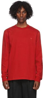 Ami Alexandre Mattiussi Red Jersey Long Sleeve T-Shirt