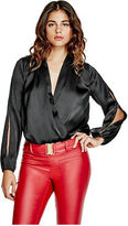 G by Guess GByGUESS Women's Lulianna Surplice Bodysuit
