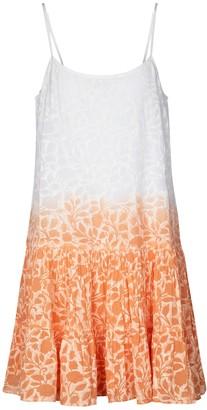 Juliet Dunn Floral tie-dye cotton minidress