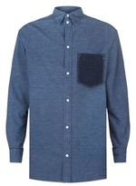 Loewe Patch Detail Chambray Shirt