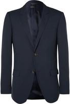 Calvin Klein Collection Blue Hudson Slim-Fit Silk-Seersucker Blazer