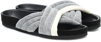 Isabel Marant Holden denim slides