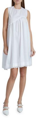 Simone Rocha Sleeveless Asymmetrical Babydoll Dress