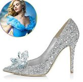 Monie Cinderella Movie 2015 The Glass Slipper Princess Crystal Bridal Shoes Adult