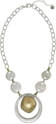 The Sak Two-Tone Large Pendant Necklace