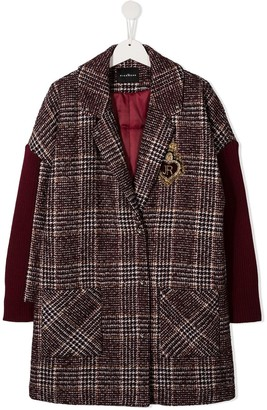 John Richmond Junior Prince of Wales check coat