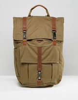 Timberland Rolltop 24l Backpack With Leather Trim