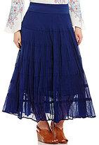 Reba Plus Joy Tiered A-line Skirt