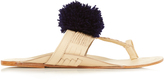 Figue Leo pompom leather sandals