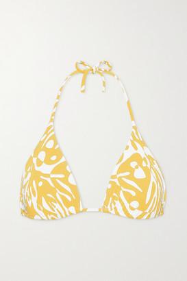 Eres Starfish Printed Triangle Bikini Top - Saffron
