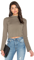 Splendid 1x1 Cropped Turtleneck