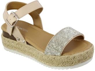 Top Moda Candide Rhinestone Espadrille Sandal