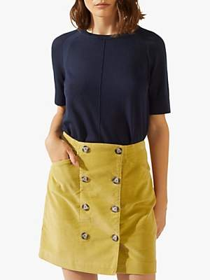 Jigsaw Cord Double Button Skirt