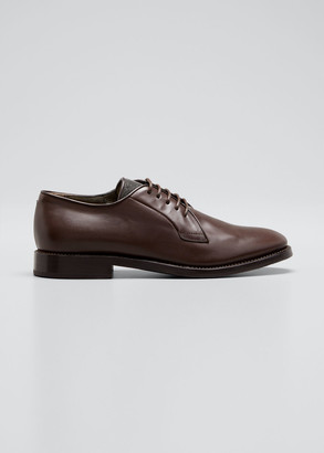 Brunello Cucinelli Leather Monili Oxfords