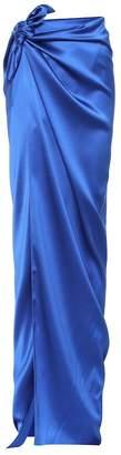 Balenciaga Satin maxi skirt