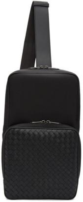 Bottega Veneta Black Intrecciato Hi-Tech Sling Bag