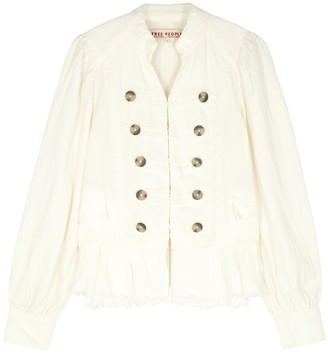 Free People Ariana off-white linen-blend jacket