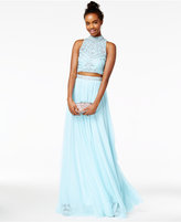 Say Yes to the Prom Juniors' 2-Pc. Rhinestone A-Line Gown, A Macy's Exclusive