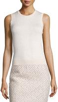 Oscar de la Renta Sleeveless Wool/Silk Shell, Light Pink