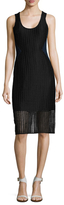 Prabal Gurung Textured Side Colorblock Sheath Dress