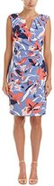 Adrianna Papell Women's Printed Stretch Side Drape