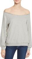 Rebecca Minkoff Ziering Off-The-Shoulder Sweatshirt