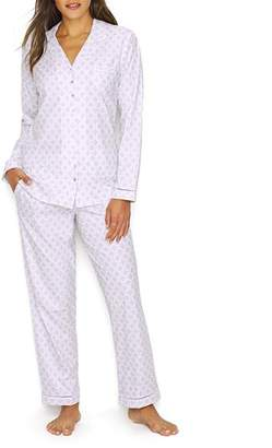 Eileen West Geometric Woven Pajama Set