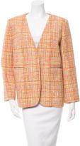 Carven Tweed Collarless Jacket