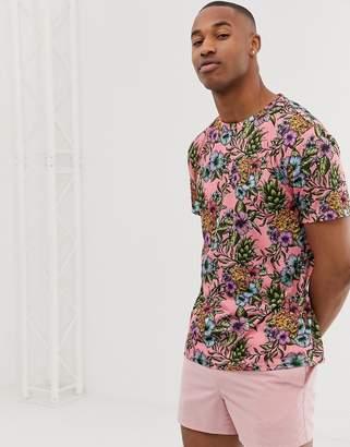 Urban Threads t-shirt in tropical print