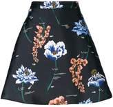 Markus Lupfer floral A-line skirt