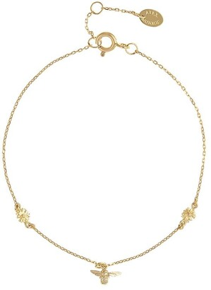 Alex Monroe 18kt yellow gold The Beekeeper floral chain bracelet