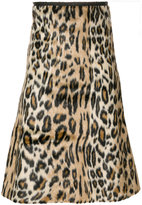 Paul Smith leopard print textured skirt